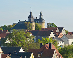 Haus Weinberg - Blick auf Schloss Friedrichsstein 2